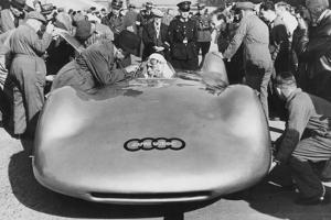 Bernd Rosemeyer and Ferdinand Porsche with Auto Union, C1937-C1938