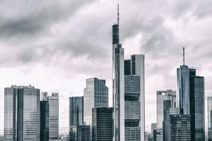 Germany, Hesse, Frankfurt on the Main, Skyline, Financial District, Monochrome by Bernd Wittelsbach