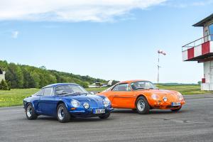 Michelstadt, Hesse, Germany, Renault Alpine a 110 Sx, Blue by Bernd Wittelsbach
