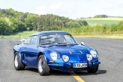 Michelstadt, Hesse, Germany, Renault Alpine a 110 Sx, Blue