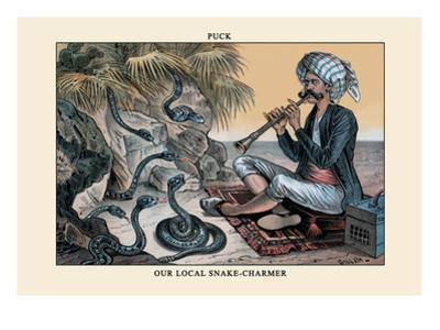 Puck Magazine: Our Local Snake-Charmer