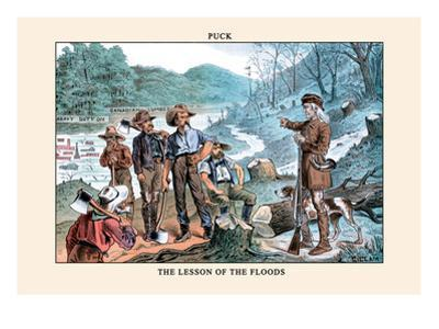 Puck Magazine: The Lesson of the Floods