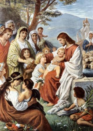 Jesus Blessing the Children by Bernhard Plockhorst