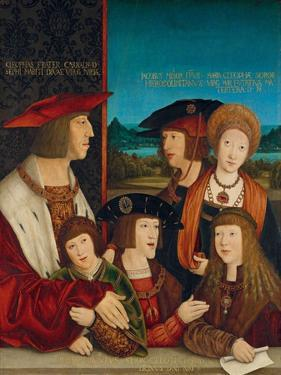 Portrait of Emperor Maximilian I with His Family, 1516-1520 by Bernhard Strigel
