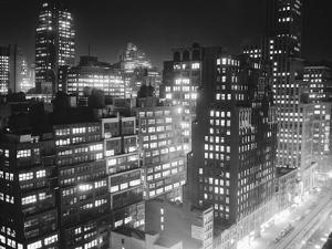 New York Garment District Skyline by Bert Brandt
