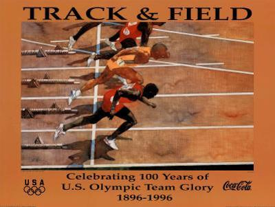 Track & Field Celebrating 100 Years U.S. Olympic Team by Bert Forbes