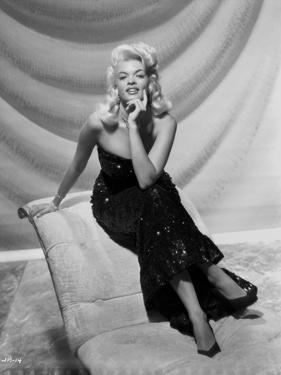 Jayne Mansfield sitting in Classic Portrait by Bert Six
