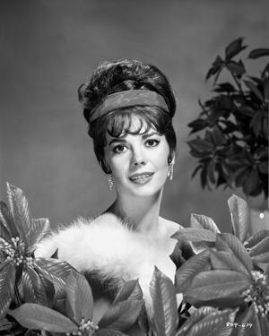 Natalie Wood smiling in Fur dress by Bert Six