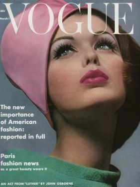 Vogue Cover - March 1962 by Bert Stern