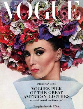Vogue - February 1964 - Hat In Bloom by Bert Stern