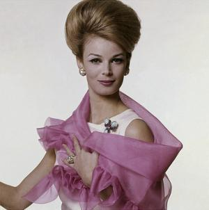 Vogue - July 1962 - Woman with Bouffant Hairdo by Bert Stern