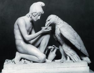 Ganymede with the Eagle of Jupiter, 1817 by Bertel Thorvaldsen