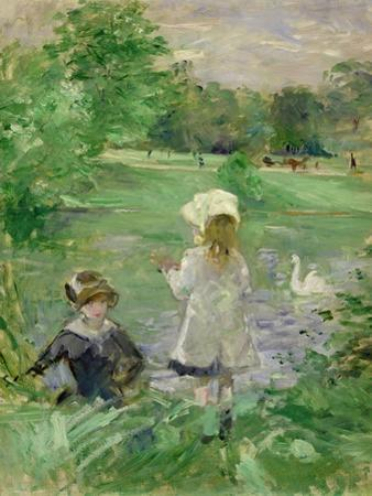 Beside a Lake, 1883 by Berthe Morisot