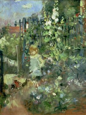 Child in the Hollyhocks, 1881 by Berthe Morisot