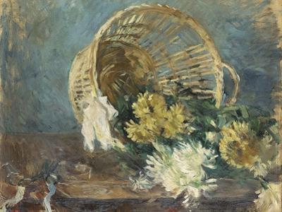 Chrysanthemums or the Overturned Basket, 1885 by Berthe Morisot