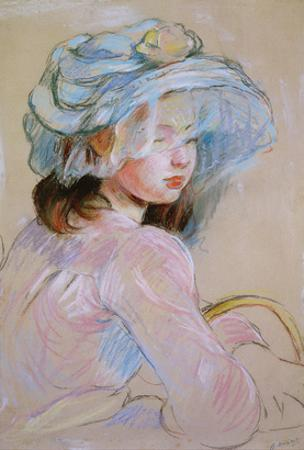 Girl Carrying a Basket, 1891 (Pastel on Paper) by Berthe Morisot