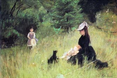 In the Meadow by Berthe Morisot
