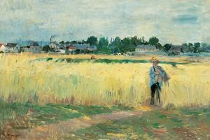 In the Wheat Fields at Gennervilliers by Berthe Morisot