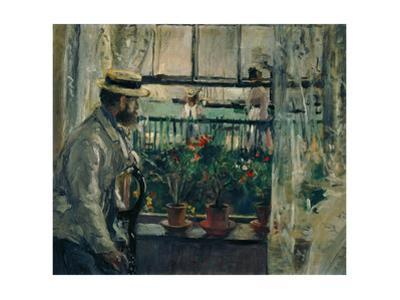 Interior, Isle of Wight,1875. Canvas. by Berthe Morisot