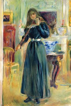Julie Playing Violin by Berthe Morisot