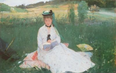 Lady in the Meadows by Berthe Morisot