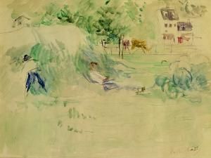 Les Foins a Bougival by Berthe Morisot