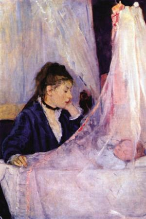 Mother Looks At Baby In The Cradle by Berthe Morisot
