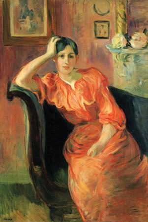 Portrait of Jeanne Pontillon by Berthe Morisot