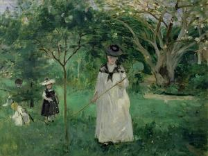 The Butterfly Hunt, 1874 by Berthe Morisot