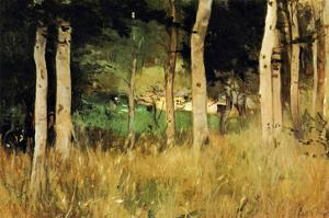 The Cottage Amongs the Birch Trees by Berthe Morisot