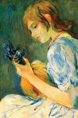 The Mandolin by Berthe Morisot