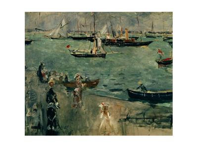 The Marina, Isle of Wight,1875. Canvas. by Berthe Morisot