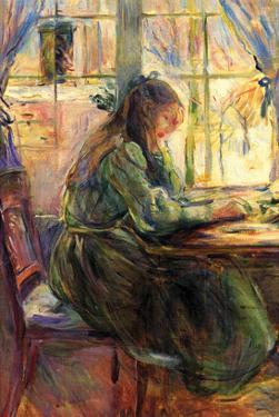 Young Girl Writing by Berthe Morisot