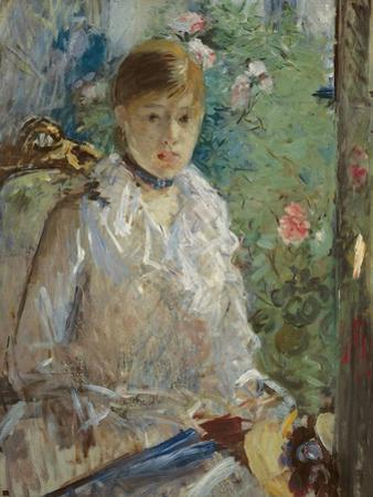 Young woman sitting in front of a window, called Summer, 1879 by Berthe Morisot