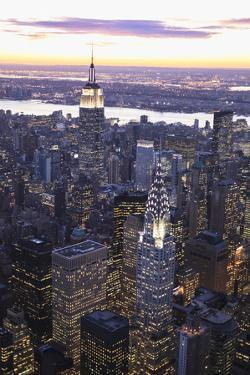 Chrysler Building and Empire State Building by Berthold Trenkel