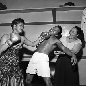 Sugar Ray Robinson, Ruth Brown, and Blanche Calloway by Bertrand Miles