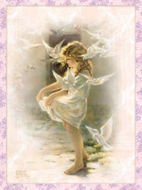 Winged Aureole by Bessie Pease Gutmann