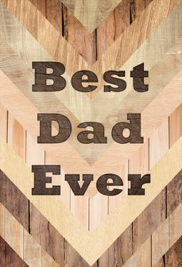 Best Dad Ever - Woodgrain