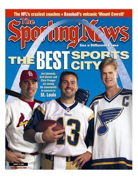 Best Sports City St. Louis - Jim Edmonds, Chris Pronger and Kurt Warner - August 14, 2000