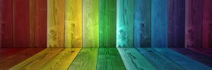 Concept or Conceptual Abstract Multicolored or Colorful Old Vintage Grungy Wood Wall Floor Texture by bestdesign36