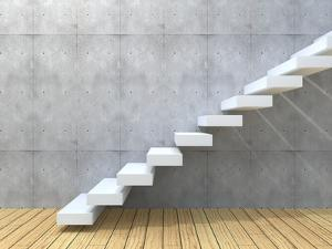 Concept Or Conceptual White Stone Or Concrete Stair Or Steps by bestdesign36