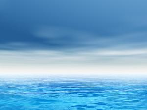 Sea or Ocean Water Waves and Sky Cloudscape by bestdesign36