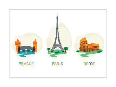 European Capital Symbols.