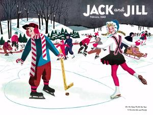 Skating Fun - Jack and Jill, February 1945 by Beth Henninger