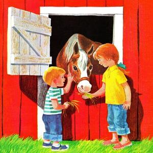 Feeding the Horse - Jack & Jill by Beth Krush