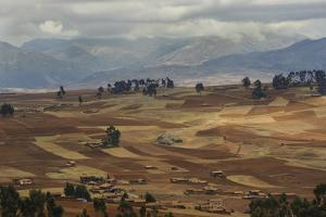 A Patchwork of Fields Plowed and Ready for Planting Above the Sacred Valley by Beth Wald