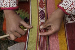 A Quechua Woman Weaves on an Andean Backstrap Loom by Beth Wald