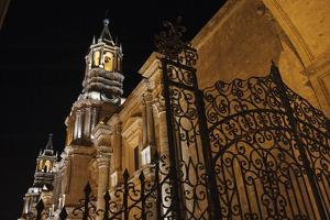 An Ornate Iron Gate Frames the Elaborate 'Sillar' Architecture of La Catedral, 1656 by Beth Wald