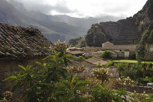 Ancient Stone and Adobe Houses and Narrow Streets in Ollantaytambo by Beth Wald