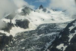 Clouds Clear over Peaks and a Glacier in the Alaska Range by Beth Wald